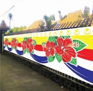 Banner Bunga Raya Rekaan Batik (20m)