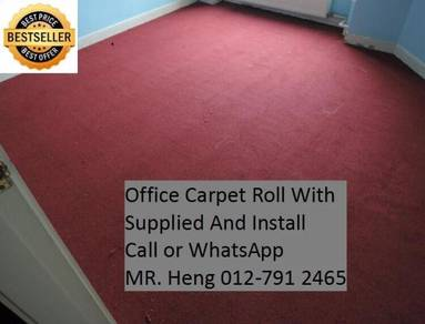 Natural Office Carpet Roll with install 47FS