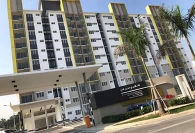 Seri Pinang Apartment 850sf Setia Alam RENOVATED Balcony