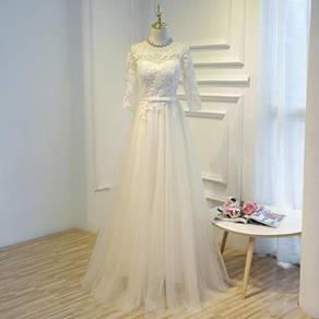 Blue cream prom bridesmaid wedding dress RB0430