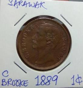Sarawak Charles Brooke 1 Cent 1886