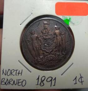 North Borneo ( Sabah) Old Coin 1 cent 1886