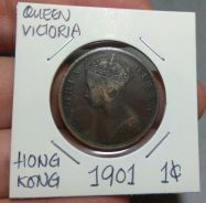 Hong Kong Queen Victoria 1 cent Year 1901