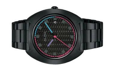 ALBA Men Black Stainless Steel Watch VJ42-X301BBLB