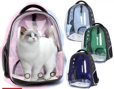 Transparent cat backpack 10