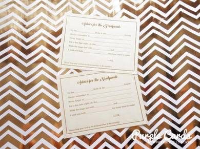 Gold stamping on wedding card
