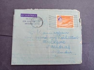 Antik Airletter MALAYA 1957 No 2993