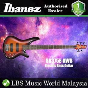Ibanez SR375E-AWE 5 String Electric Bass Guitar