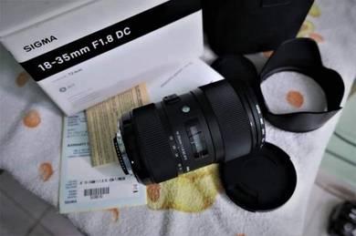 Sigma 18-35mm f1.8