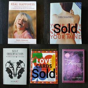 3 English Books non-fiction self-help new age