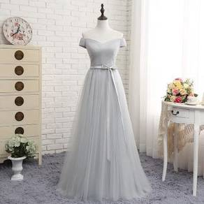 Pink grey wedding bridesmaid prom dress RBBD0076