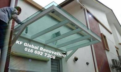 Glass Awning, Pergola, Gate & Grill