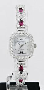 ROYAL CROWN Ladies Jewelry Watch 1514L-SS-CZ8-1M