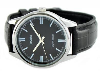 Casio Men Analog Leather Watch MTP-V005L-1AUDF