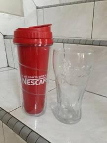 Nescafe Tumbler & Coca-Cola Glass