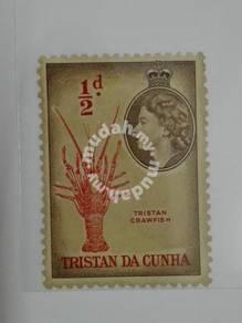 (RB 056) 1954 TRISTAN DA CUNHA, QE II 1/2 d Stamp