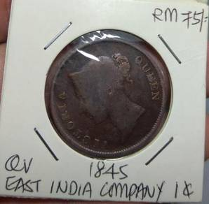 Malaya East India Company Queen Victoria Old Coin