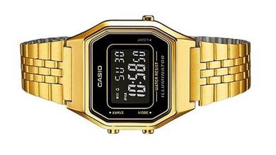 Casio Ladies Digital Vintage Watch LA680WGA-1BDF