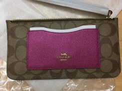 Zip top wallet 55762 coach