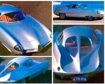 Vintage rare 1955 Alfa Romeo Bertone BAT 9 diecast
