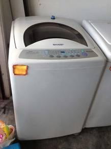 Recondition 10kg Sharp Mesin Basuh Washing Machine