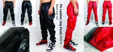 PU Leather Sports Pants