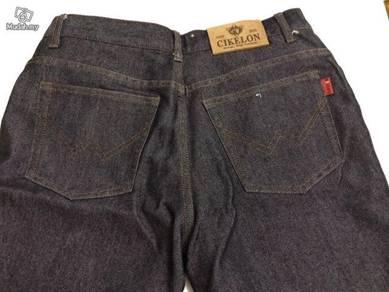 Black Silver V2 Long Jeans Pant Seluar Panjang