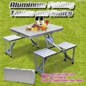 Kltn - Aluminium Picnic Table Chair Set (09)