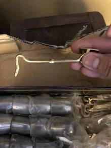 New old brass hooks for window door cabinet chest