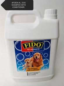 Fido Dog Puppy Shampoo Conditioner Syampu 4Litre