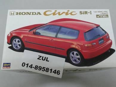 Hasegawa 1/24 Honda Civic Eg6 SiR DOHC VTEC Ek9