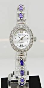 ROYAL CROWN Ladies Jewelry Watch 1516L-SS-CZ5-1M