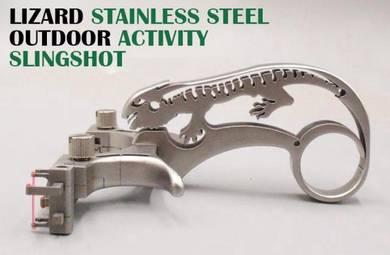 Lizard Stainless Steel Slingshot | Lastik Besi