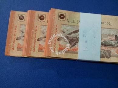 Wang Baru RM20 prefix AA