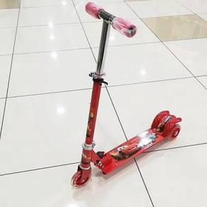 Scooter cars merah kanak-kanak