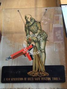 Vintage Hilti Piston Tools Signboard Papan Iklan