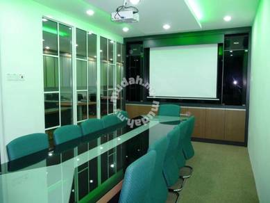 Office Meeting Room Table Projector Screen Cabinet