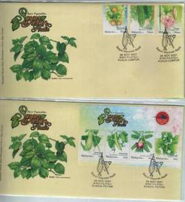 First Day Cover Rare Vegetables Malaysia 2007