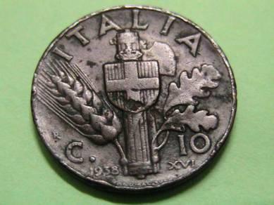 Italy 10 Cents 1938