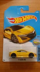 HotWheels '17 Acura NSX Yellow