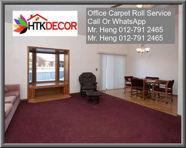 Natural Office Carpet Roll with install 34MN