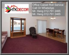 Natural Office Carpet Roll with install 8BDB