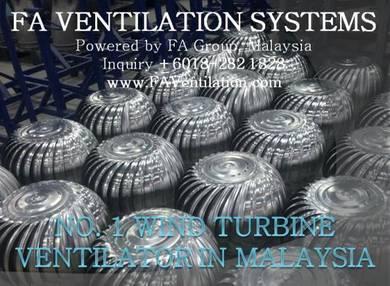 19X-PL FA Wind Turbine Ventilator & Free Floating