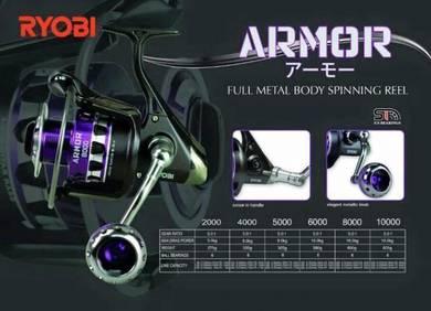 Ryobi Armour 2000 ~ 10000 Fishing Reel