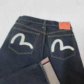 Evisu W31 L33.5 Gull putih kepala kain jeans