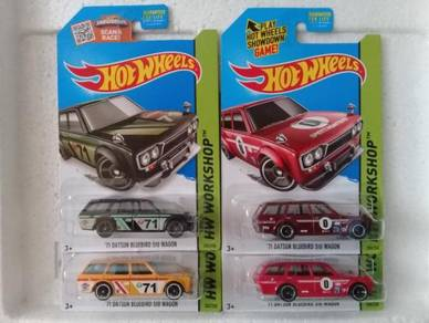 Hotwheels '71 Datsun Bluebird 510 Wagon Lot