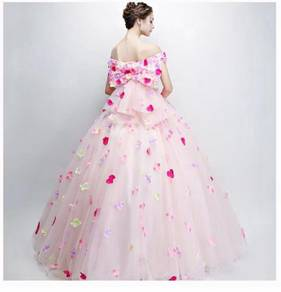 Pink prom wedding bridal dress gown RB1597