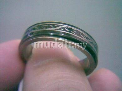 ABRSS-D005 Dragon-8 2 Layer Spin Stainless Ring