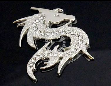 Silver Dragon Metal 3D Car Sticker for All Cars