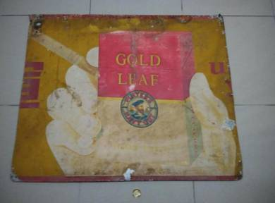 TExp Gold Leaf Tin Sign Lama Vintage Old